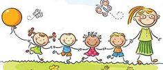 Happy kids and their teacher on a walk in the kindergarten. Education clipart, teaching clipart, Children clipart, kindergarten cli part Cartoon Kids, Cartoon Images, Easy Cartoon, Clipart, Drawing For Kids, Art For Kids, Preschool Transitions, Transitional Kindergarten, Kids Outdoor Play