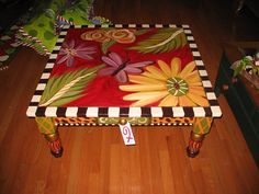 Fall Winter Spring 2007 Table 106 by lisA fRosT studio, via Flickr painted table
