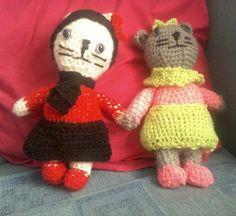 Kitty cats I've crocheted.