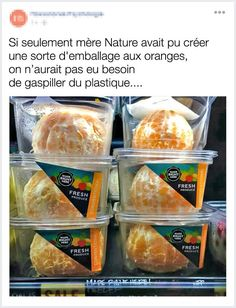 If only nature would find a way to cover oranges so we didn't need to waste plastic on them. Thanks for this brilliant solution Whole Foods Whole Foods, Whole Food Recipes, Snack Recipes, Snacks, Funny Images, Funny Photos, Humorous Pictures, Awkward Photos, Funniest Photos