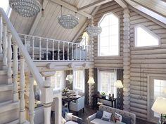 Переделка типового деревянного дома: пример из Никулино Cabin Interior Design, Interior Decorating, House Design, Rustic Cabin Decor, Wood Home Decor, Outdoor Garden Bench, Cabin Chic, Forest House, Cabin Interiors
