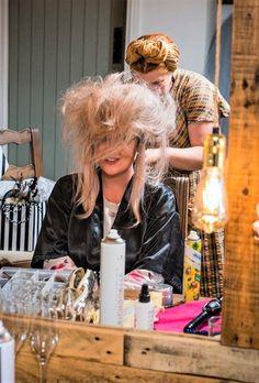 crêpage de cheveux long
