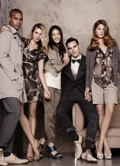 Esprit S/S '11 ad campaign. Group posing