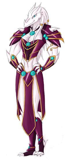 Kai- Dragonborn female Coloure by she-ookami on DeviantArt