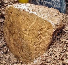 Inscribed Stone Found at Neolithic Orkney World Heritage Site - ORKNEY, SCOTLAND—A second inscribed stone has been unearthed at the Ness of Brodgar, where archaeologists discovered a large complex of monumental Neolithic buildings in 2002.