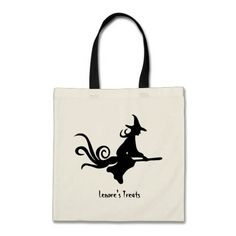 Witch Broomstick Personalized Trick or Treat Bag