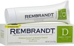 Rembrandt Deeply White Peroxide Whitening Toothpaste for sale online Teeth Whitening That Works, Whitening Skin Care, Teeth Whitening Remedies, Natural Teeth Whitening, Teeth Implants, Dental Implants, Dentist Day, Remedies For Tooth Ache, Dental Bridge