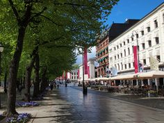 Karl Johans Gate in Oslo, Norway