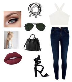 Casual Edgy by xolovenancy on Polyvore featuring polyvore, fashion, style, BCBGMAXAZRIA, River Island, Strathberry, Ray-Ban, Lime Crime and clothing