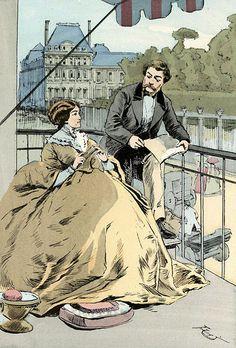 On a balcony in the Rue de Rivoli, 1864