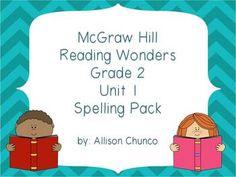 2nd Grade Reading Wonders Spelling Pack_Unit 1 $5