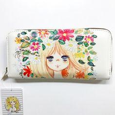 New! Mizumori Ado Wallet Purse White Japan Kawaii F/S #MizumoriAdo