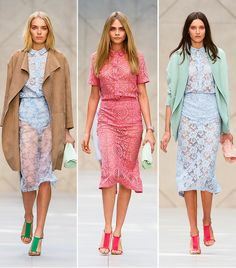 @Who What Wear - Burberry Prorsum S/S 14                 The Burberry Prorsum S/S 14 collection revealed just how versatile this trend is, thanks to a range of color and outerwear options.