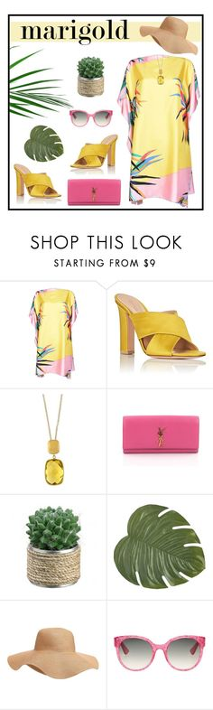 """#marigold"" by hellodollface ❤ liked on Polyvore featuring Emilio Pucci, Gianvito Rossi, Effy Jewelry, Yves Saint Laurent, Pier 1 Imports, Old Navy, Gucci and marigold"