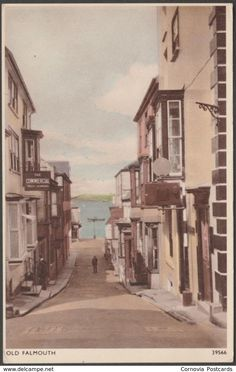 Old Falmouth, Cornwall, c.1940 - Sweetman Solograph Postcard