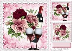 Beautiful roses with red wine in lace for that special day 8x8 frame  on Craftsuprint - View Now!