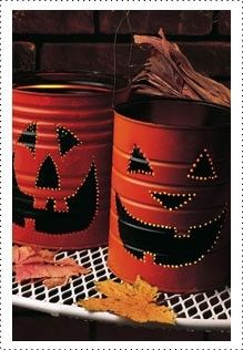 Krylon Jack-O-Lantern Luminaries #halloween #craft #pumpkin