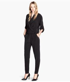 Jumpsuit in woven fabric with a slight sheen.  http://www.foxyblu.com/products/details/135246