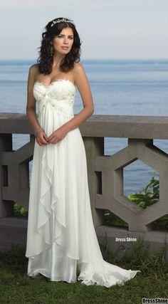 beach wedding dress IN LOVE