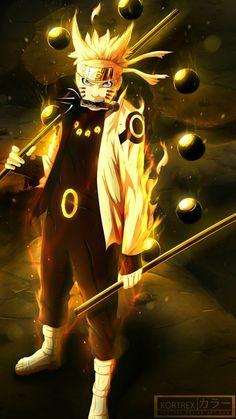 Naruto no modo Kurama
