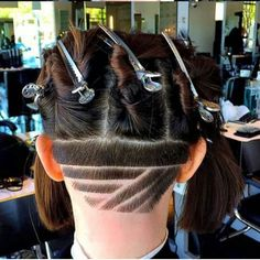 Undercut Why Nomex AP Shirts And Pants Offers More If you happen to work in electrical fie Shave Designs, Undercut Designs, Shaved Nape, Hair Tattoos, Undercut Hairstyles, Girly Things, Shaving, Locks, Hair Makeup