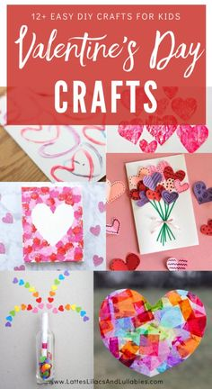 Valentine's Day Crafts are some of the most fun to do with your kids, and these super simple ideas will not disappoint. I can't pick a favorite, can you? Valentines Day Activities, Valentine Day Crafts, Easy Diy Crafts, Fun Crafts, Valentine's Day Crafts For Kids, Little Valentine, Bottle Crafts, Lilacs, Super Simple