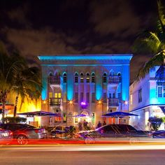 Miami Beach: Hotel on Ocean Drive.   We used to park outside the Clevelander and people watch. So much fun.