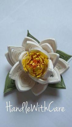 Quilled Lotus Flower - by: Handle With Care Paper Quilling