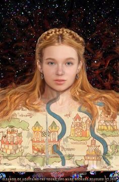 Eleanor of Aquitaine age 13.  The Young Life (Book 1 Cover without title permission Mark Richard Beaulieu) www.eleanorofaquitaine.net