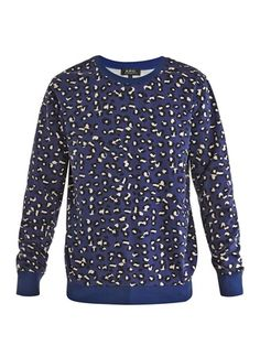 Leopard-print sweatshirt by A.P.C. | Apprl - Social Shopping