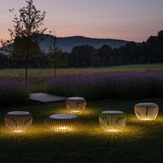 Barcelona-based design house Vibia produces furniture that doubles as outdoor lighting. Would use one of these LED seats?