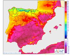 Temperaturas máximas Diagram, Map, World, Rain, Countries, Thunderstorms, Location Map, Maps, Peace