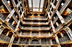 I want to get lost here ... Peabody Library in Baltimore