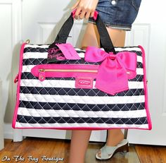 Betsey Johnson Weekender Quilted Stripe Satchel Travel Tote Bag NWT #BetseyJohnson #Totes #travelbags