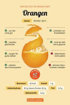 Das solltest du über Orangen wissen | eatsmarter.de #orangen #infografik #ernährung