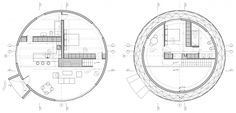 Ecoproyecta - geodetic and self Houses in Yecla, Murcia Murcia, Geodesic Dome Homes, Dome House, Floor Plans, Diagram, How To Plan, Yurts, Single Family, Cottage