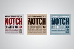 Notch Beer by Bluerock Design , via Behance