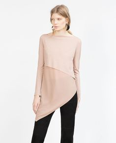 COMBINED ASYMMETRIC TOP-View all-Woman-NEW IN | ZARA United States