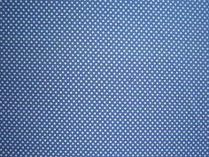 Blue & White Polka Dot Fabric - 100% Cotton  - Price per 1/2 Yard