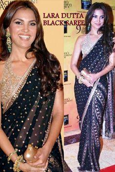 USD 43.85 Lara Dutta Blue Bollywood Saree 31904