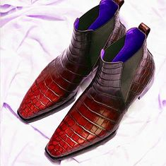 Men's Classic Handcrafted Alligator Chelsea Boots Men's Shoes, Dress Shoes, Shoes Men, Gentleman, Alligator Boots, Goodyear Welt, Toe Shape, Crocodile, Chelsea Boots