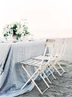 Editorial prop styling for a California beach wedding inspiration shoot photographed by Sally Pinera as seen on Style Me Pretty.