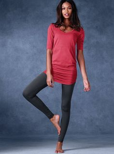 A tunic and leggings are a standard uniform. Mix and match colors, dress it up with wedges, a cool necklace, and hoop earrings or dress it down with funky boots, a fun scarf, and a cool jacket! So versatile!