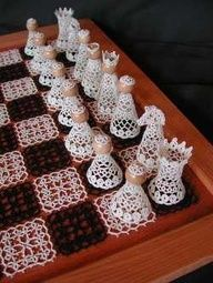 Wow - would you make this crochet chess set?