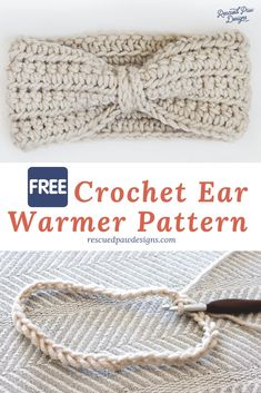 Crochet Ear Warmer Pattern for Beginners - Make this chained crochet headband in any size! Learn how to crochet a headband with this Free Crochet Pattern Hats for beginners Crochet Ear Warmer Pattern - Free Ear Warmer Headband Pattern Crochet Ear Warmer Pattern, Crochet Headband Pattern, Easy Crochet Patterns, Knitting Patterns, Free Crochet Patterns For Beginners, Crochet Ear Warmers, Crochet Ideas, Crochet Stitches, How To Crochet For Beginners