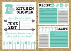 ideas for a recipe shower - Google Search