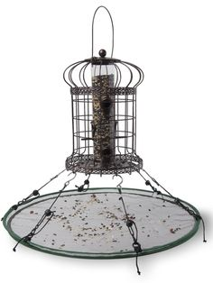 """Seed Hoop Bird Seed Catcher, 24""""   Gardeners.com. I've been planning on making something like this!"""