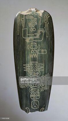 Olmec civilization, Mexico, 9th-4th century b.C. Axe of Baron Humboldt. From Tres Zapotes.