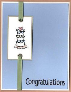 A simple congratulatory Wedding Card - DIY instructions