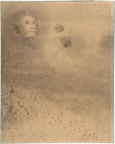Hallucinations, Odilon Redon (French, Bordeaux 1840–1916 Paris) Date: n.d. Medium: charcoal on tan paper Dimensions: image: 11 5/8 x 9 5/16 in. (29.5 x 23.7 cm) mount: 14 3/4 x 11 5/8 in. (37.5 x 29.6 cm)